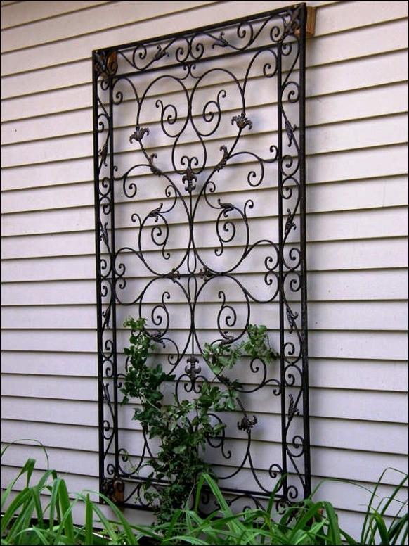 Decorative Metal Garden Wall Art Decor Ideas Design Wrought Iron Regarding Most Popular Large Garden Wall Art (View 8 of 15)