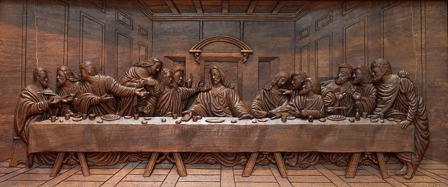 Decorative Panel – Last Supper Sculpturegoran In Current The Last Supper Wall Art (View 4 of 15)