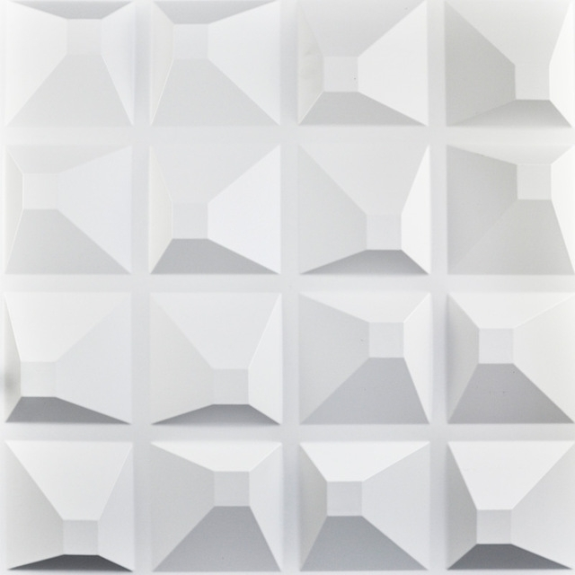 Decorative Plastic 3D Wall Art Wall Tile Pack Of 12 Tiles 32 Sq Ft In 2017 3D Triangle Wall Art (View 8 of 15)