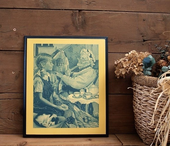 Decoupage Wall Art Within Newest Wood Decoupage Traditional Wall Art Plaque Vintage Print, Decoupage (View 7 of 15)