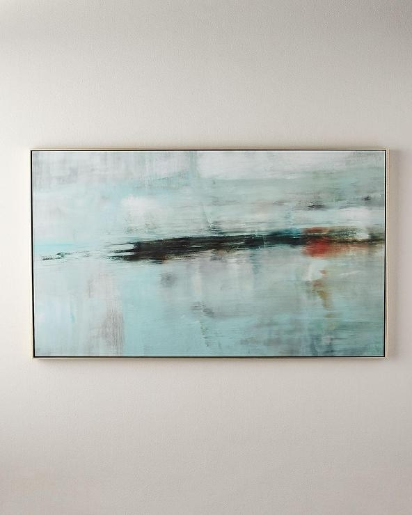 Deep Horizon Giclée Floater Frame Wall Art With Fashionable Abstract Horizon Wall Art (View 6 of 15)