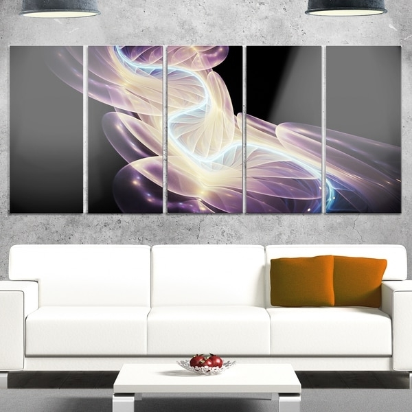 Designart 'elegant Fantasy Fractal Design' Abstract Metal Wall Art Throughout Most Popular Overstock Abstract Wall Art (View 2 of 15)