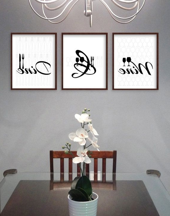 Dining Room Wall Art – Dining Room Art – Kitchen Prints – Kitchen With Regard To Preferred Modern Wall Art For Dining Room (View 3 of 15)