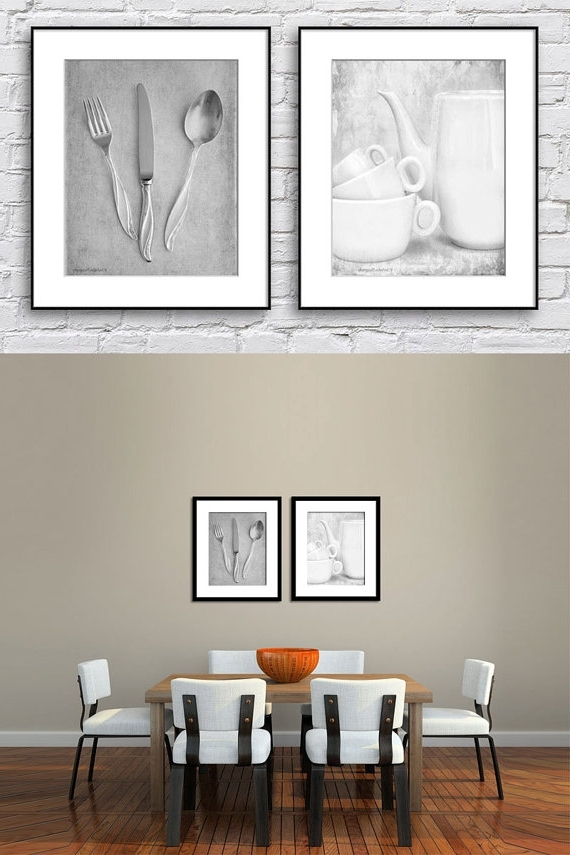 Dining Room Wall Art Kitchen Black And White Set Of – Rafael Martinez For Most Current Kitchen Wall Art Sets (View 11 of 15)