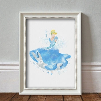 Disney Princess Framed Wall Art With Well Liked Best Disney Princess Wall Art Products On Wanelo (View 2 of 15)