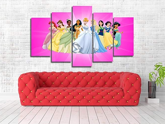 Disney Princess Framed Wall Art Within Most Recently Released Amazon: Disney Princess Kids Character Art Framed Canvas Print (View 7 of 15)