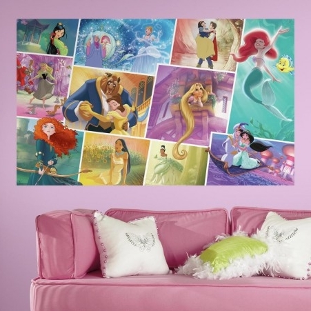 Disney Princess Wall Art For Well Liked Disney Princess Storybook Peel And Stick Wall Mural (View 2 of 15)