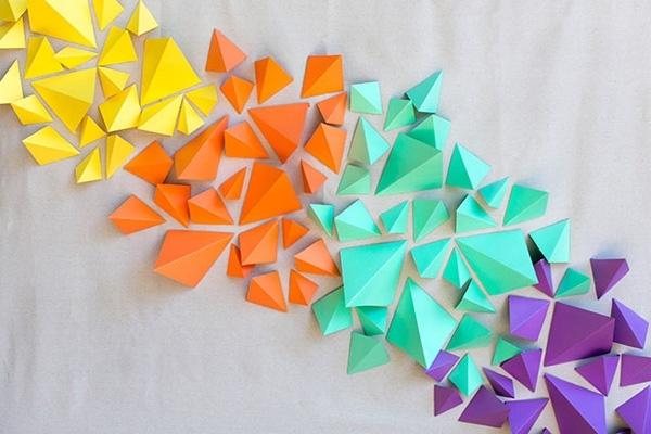 Diy 3D Paper Wall Art Regarding Most Popular Wall Art Ideas Design : Trendy Fancy 3D Paper Wall Art Cheerful (View 2 of 15)