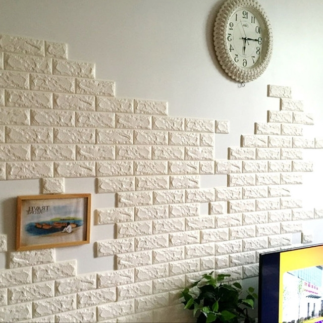 Diy 3D Wall Art Decor With Regard To Best And Newest Diy 3D Wall Brick Pattern Wall Stickers Home Decor Living Room (View 8 of 15)