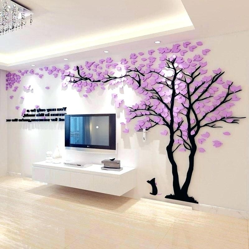 Diy 3D Wall Art Diy 3D Paper Butterfly Wall Art – Karintil With Most Popular Diy 3D Wall Art Decor (View 12 of 15)