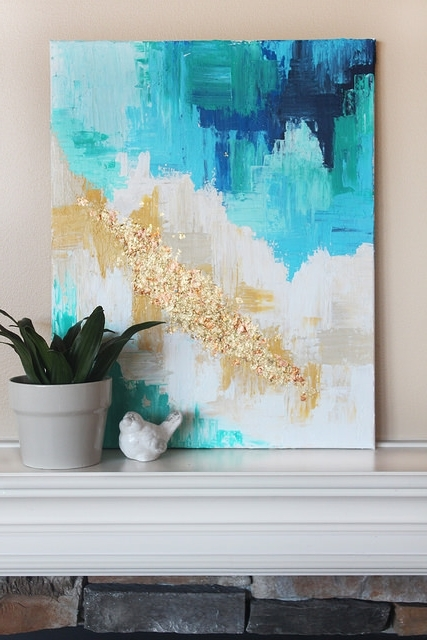 Diy Abstract Art Canvas (View 2 of 15)