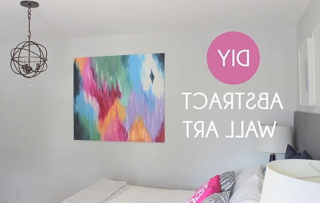 Diy Abstract Wall Art With Regard To 2017 Home Coming: Diy Abstract Canvas Art (View 9 of 15)