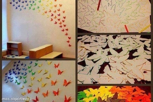 Diy Butterfly Wall Art Pictures, Photos, And Images For Facebook With Famous Pinterest Diy Wall Art (View 3 of 15)