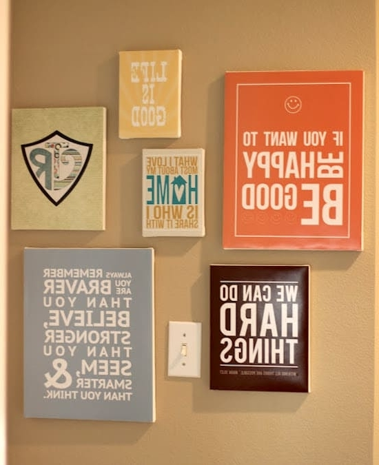 Diy Canvas Wall Art Quotes With Favorite Make Diy Quote Art On Canvas – Mod Podge Rocks (View 5 of 15)