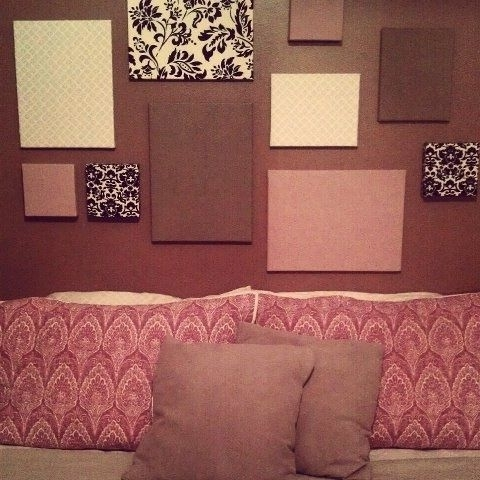 Diy– Easy Fabric Canvas Wall Art :) Diy (View 2 of 15)