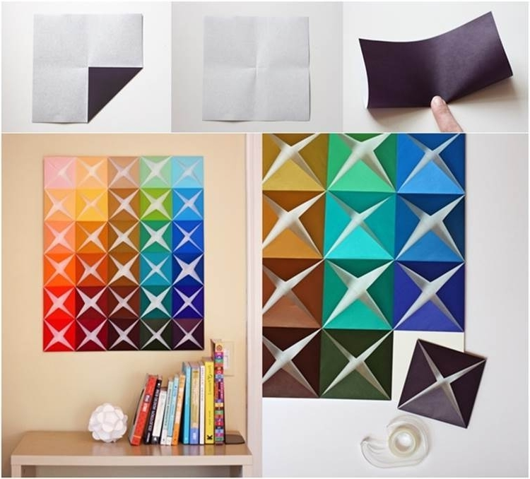 Diy Easy Folded Paper Wall Art Luxury Paper Wall Art – Home Design Within 2017 Diy 3D Paper Wall Art (View 7 of 15)