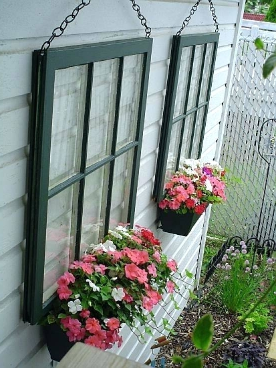 Diy Garden Wall Art Window Planters For Wall Decor Diy Artificial Throughout Well Liked Diy Garden Wall Art (View 7 of 15)