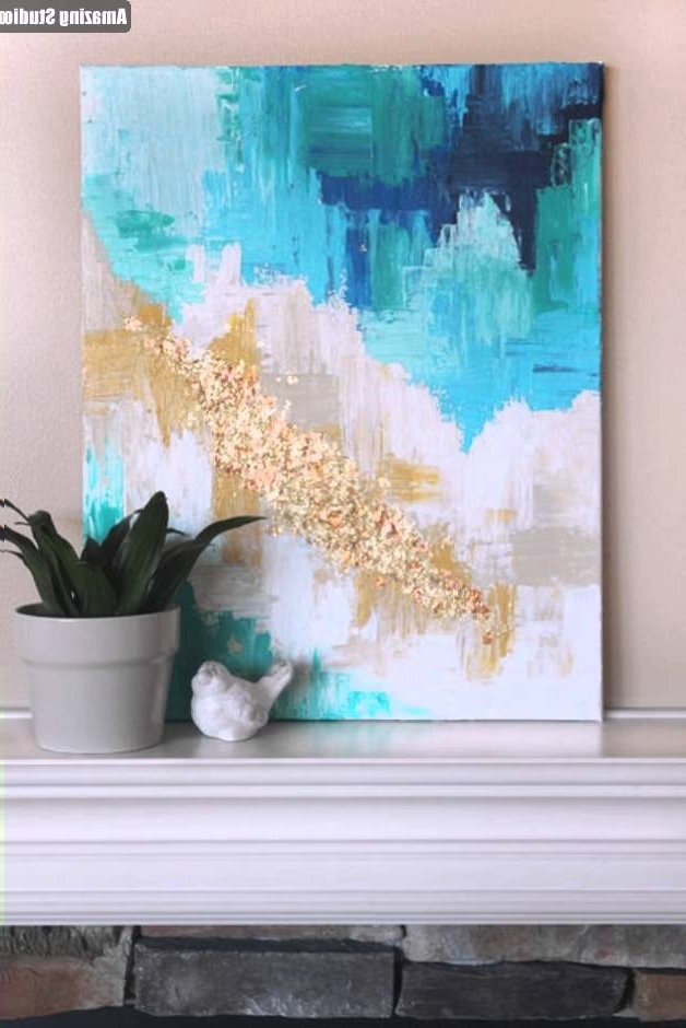 Diy Modern Abstract Wall Art with Latest Diy Abstract Art With A Golden Touch - Youtube