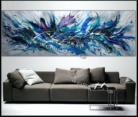 Diy Modern Abstract Wall Art With Regard To Most Popular Outstanding Wall Art Canvas Painting Art Canvas Painting Wall Art (View 15 of 15)
