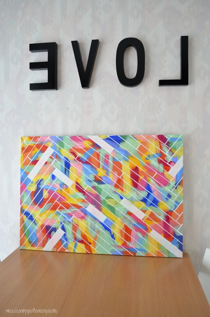 Diy Pinterest Canvas Art Within Latest Diy Canvas Art – The Pinterest Challenge Part 1 – Simply Whisked (View 5 of 15)