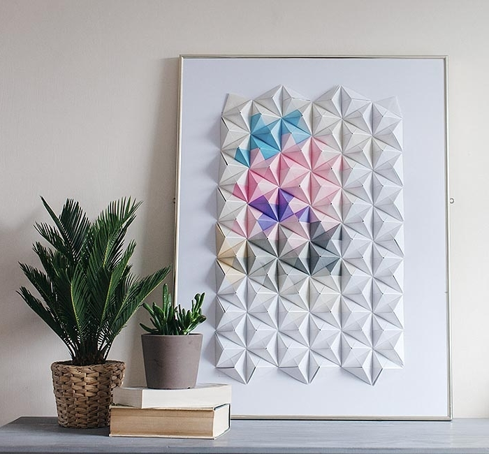 Diy Projects: Paper Wall Art For Your Rooms – Pretty Designs For 2018 Diy 3D Paper Wall Art (View 4 of 15)