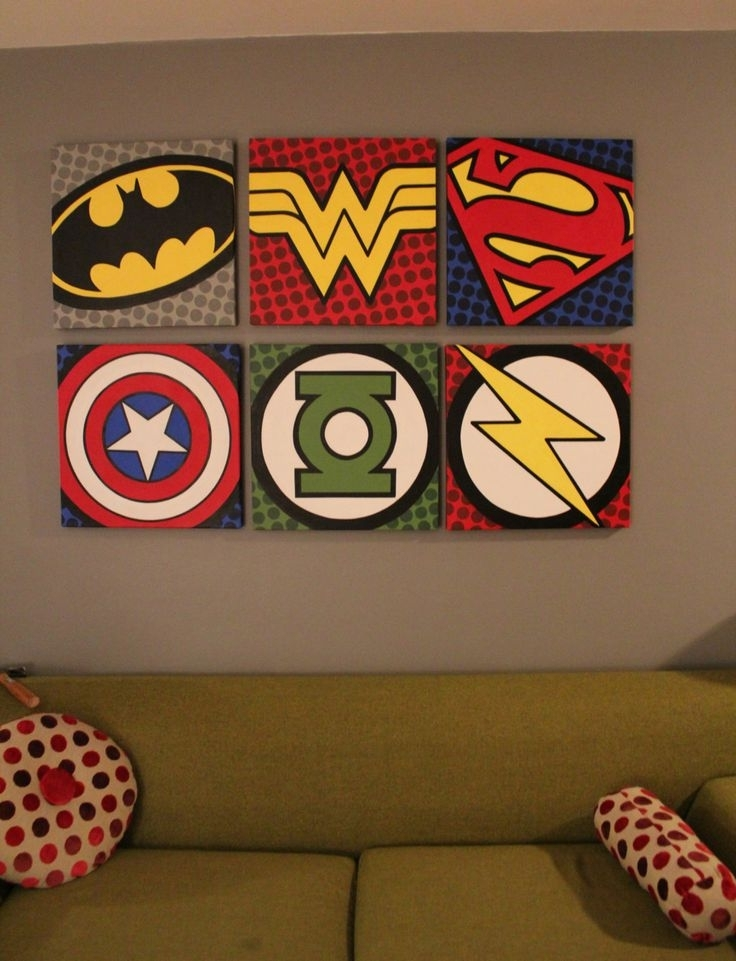 Diy Superhero Wall Decor – Gpfarmasi #034F580A02E6 Within Well Known Superhero Wall Art For Kids (View 1 of 15)