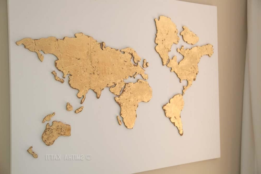 Diy World Map Wall Art That Is Easy To Make And Unique (View 4 of 15)