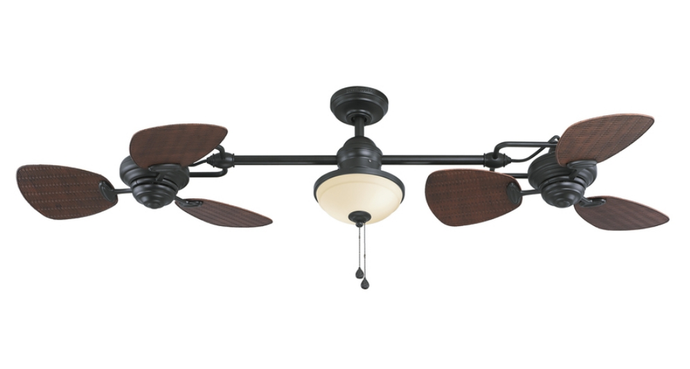 Dual Outdoor Ceiling Fans With Lights Pertaining To Recent Mesmerizing Dual Blade Ceiling Fans Home Ideas Simple Design (View 5 of 15)