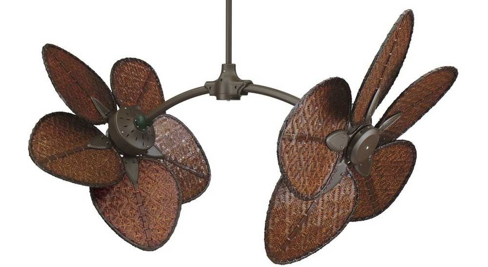 Dual Outdoor Ceiling Fans With Lights Regarding 2018 Different Unique Ceiling Fans (View 13 of 15)
