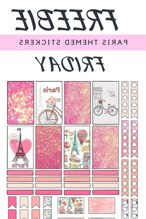 ❤Freebie Friday❤ Paris Themed Planner Stickers With Most Recent Paris Themed Stickers (View 1 of 15)