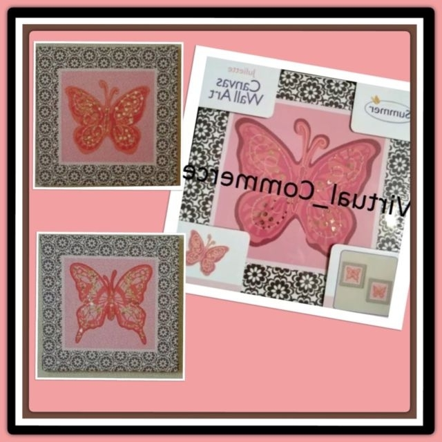 Ebay Within Butterfly Canvas Wall Art (Gallery 14 of 15)
