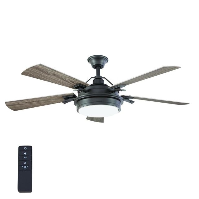 Efficient Outdoor Ceiling Fans With Regard To Well Liked Indoor Outdoor Ceiling Fan Light Kit Remote Control Energy Efficient (Gallery 4 of 15)