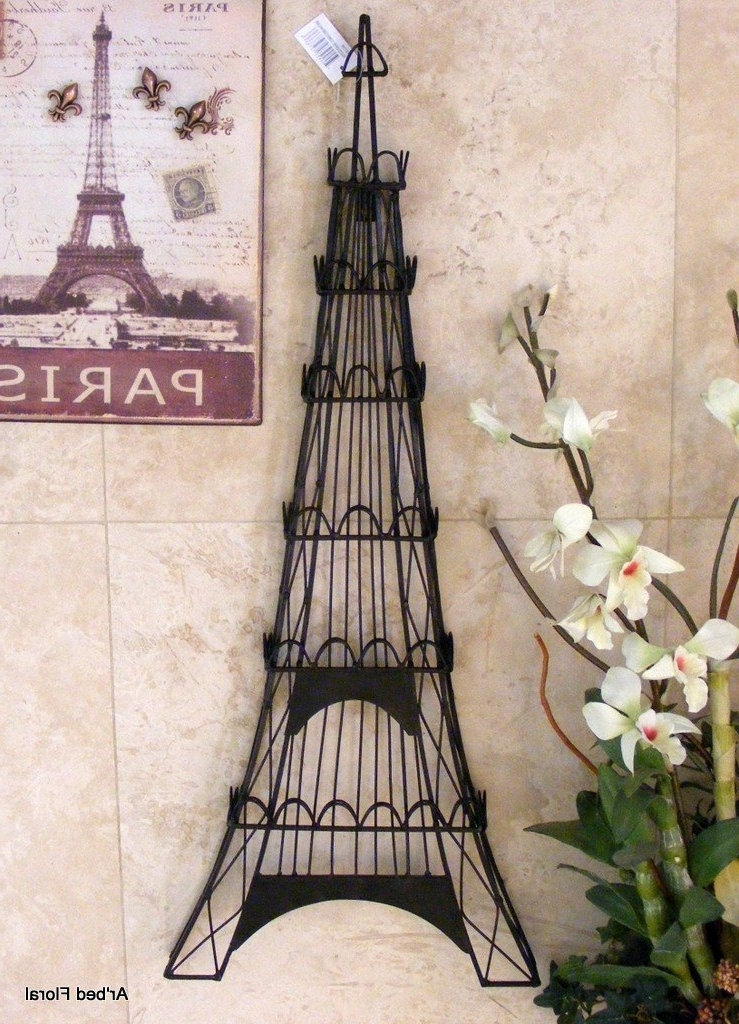 Eiffel Tower Metal Wall Art Throughout 2017 Eiffel Tower Decor (View 12 of 15)