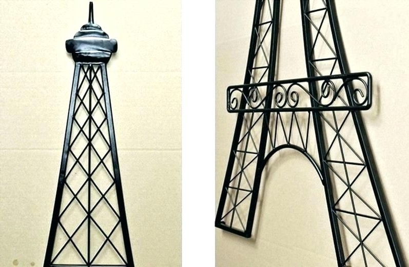 Eiffel Tower Metal Wall Art Throughout Newest Eiffel Tower Wall Decor Eiffel Tower Pink Wall Decor (View 15 of 15)