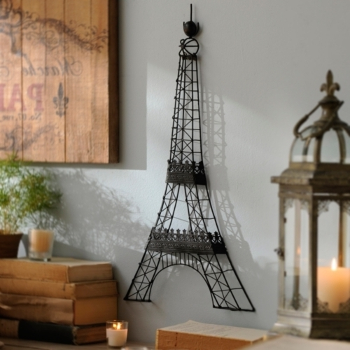 Eiffel Tower Wall Hanging Art within Recent Fancy Wall Decor Eiffel Tower - Home Design And Wall Decoration Ideas