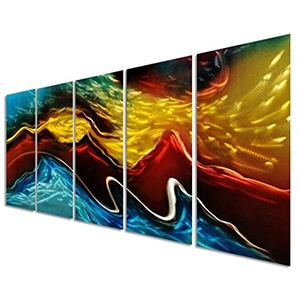 Elements Wall Art Inside Well Liked Amazon: Battle Of The Elements Metal Wall Art Decor – Modern (View 5 of 15)