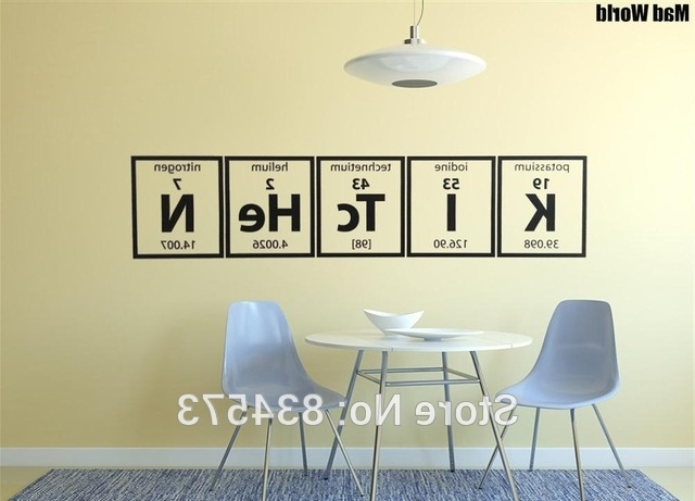 Elements Wall Art with regard to Widely used Mad World Periodic Table Of Elements Kitchen Cooking Wall Art