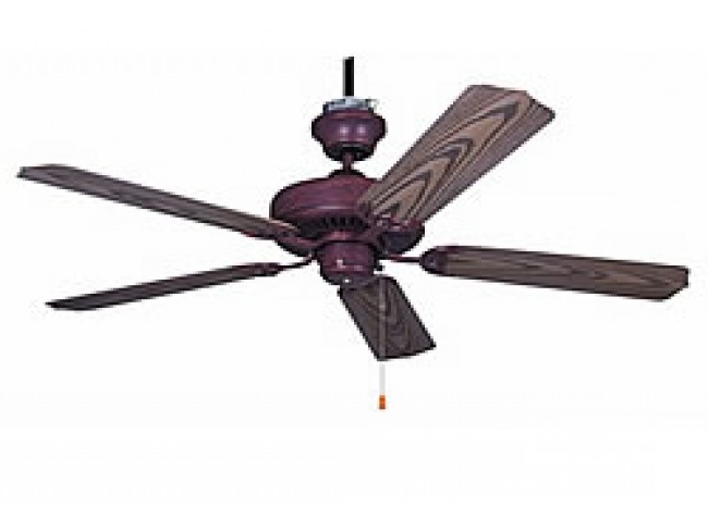 "Ellington Outdoor Ceiling Fans Inside Best And Newest Ellington All Weather 52"" Outdoor Ceiling Fan – Copperstone (View 4 of 15)"