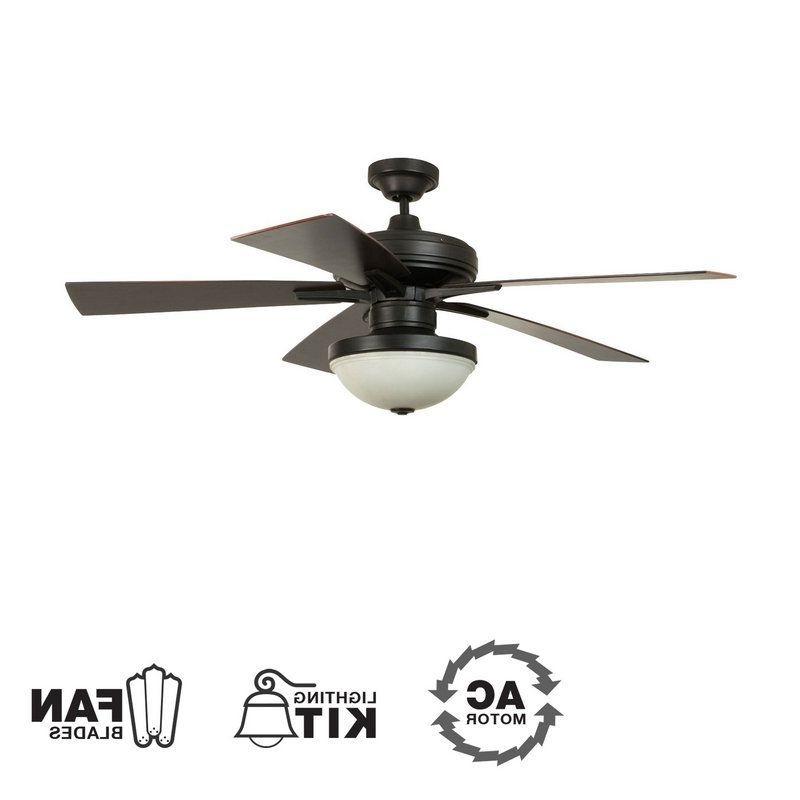"Ellington Outdoor Ceiling Fans Throughout 2017 Ellington Fans Riverfront 52"" 5 Blade Outdoor Ceiling Fan – Blades (View 11 of 15)"