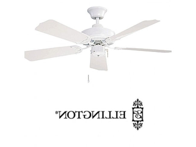 "Ellington Outdoor Ceiling Fans With Regard To Current Ellington All Weather 42"" Outdoor Ceiling Fan – White (View 7 of 15)"