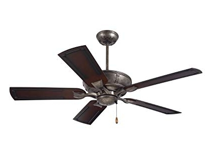 Emerson Ceiling Fans Cf610Vs Wet Rated Welland Indoor Outdoor for Latest Outdoor Ceiling Fans With Metal Blades