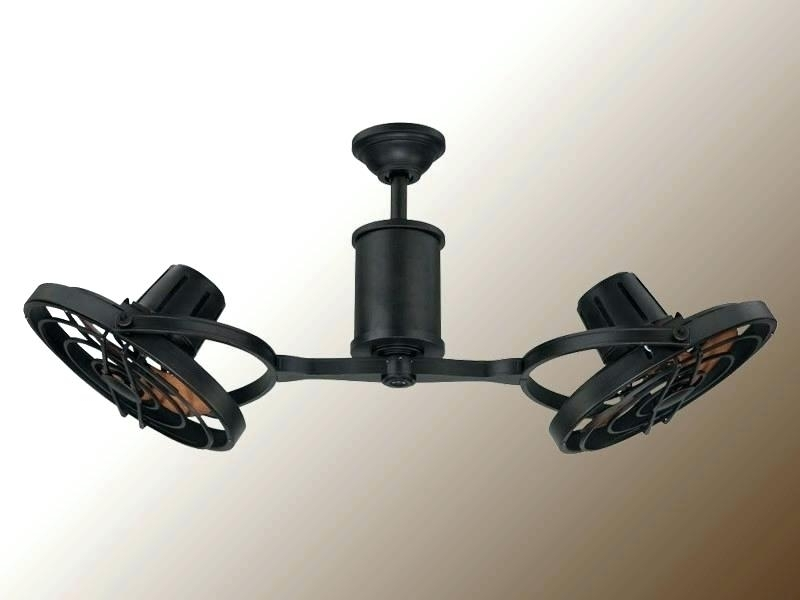 Enclosed Outdoor Ceiling Fans Pertaining To 2018 Double Ceiling Fans With Lights For Double Enclosed Ceiling Fan How (View 6 of 15)