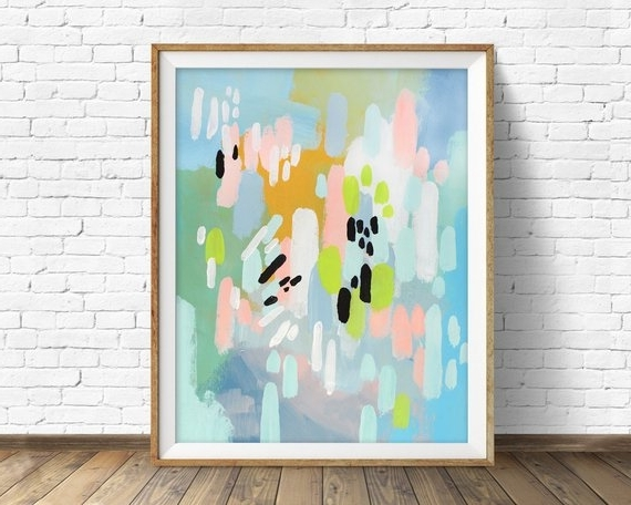 Etsy In Pastel Abstract Wall Art (Gallery 6 of 15)