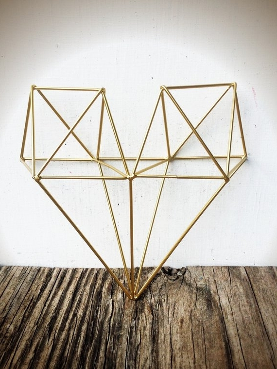 Etsy Intended For Geometric Modern Metal Abstract Wall Art (Gallery 5 of 15)