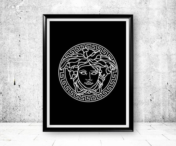 Etsy intended for Versace Wall Art