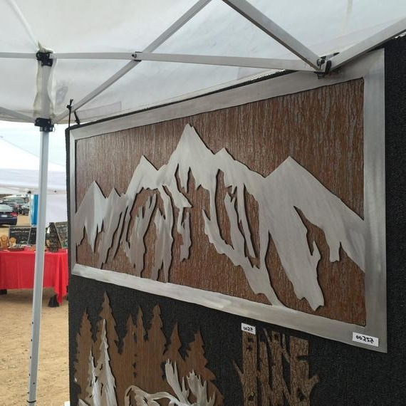 Etsy Pertaining To Mountain Scene Metal Wall Art (View 10 of 15)