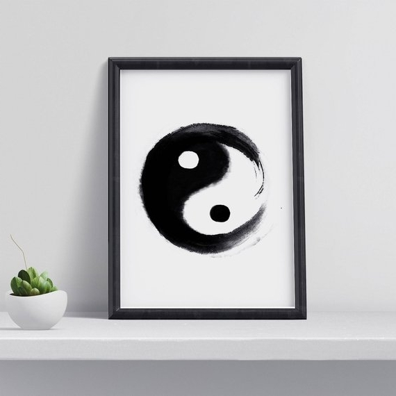 Etsy Pertaining To Yin Yang Wall Art (View 7 of 15)