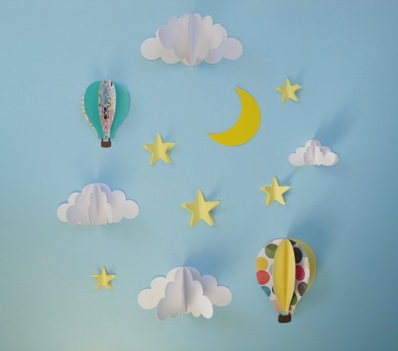 Etsy Regarding Most Popular Air Balloon 3D Wall Art (View 7 of 15)