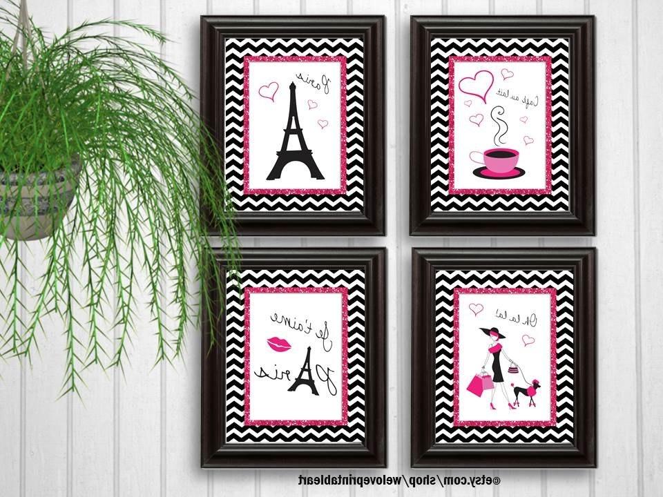 Etsy Regarding Paris Theme Nursery Wall Art (Gallery 7 of 15)