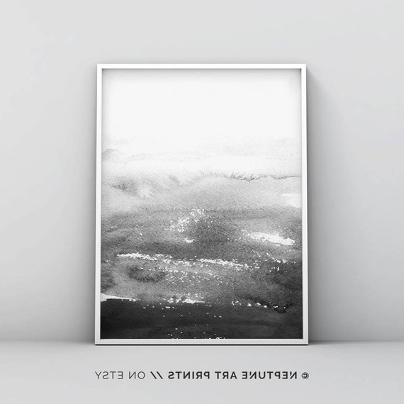 Etsy Throughout Gray Abstract Wall Art (View 7 of 15)